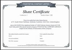 Company Certification Sample Share Certificate Template What Needs To Be Included