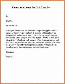Thank You Notes To Boss For Gift 15 Sample Format Of Thank You Letter Template To Boss