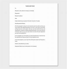 Transfer Letter Sample Job Transfer Request Letter How To Write With Format