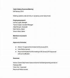 Business Meeting Minutes Template Free Business Meeting Minutes Template 12 Free Sample
