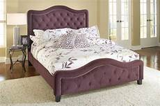 hillsdale trieste tufted upholstered bed purple hd 1758