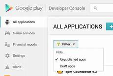andriod developer console play how remove application from app listings on