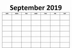 Free Printable September Calendar Blank September 2019 Calendar Free Download Printable Images