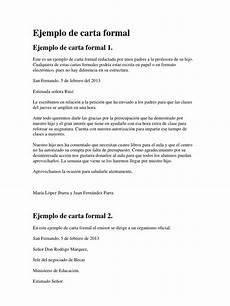 Ejemplos De Cartas De Peticion Ejemplos De Carta Formal