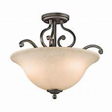 Kichler Semi Flush Mount Lighting Shop Kichler Lighting Camerena 18 In W Olde Bronze Semi