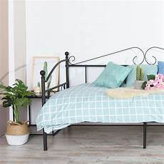 day bed solid metal bed frame 3ft single bed sofa guest