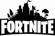fortnite logo black and white png image purepng free