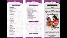Wedding Program Designs Wedding Program Design Coreldraw X7 Kingspetdesigns
