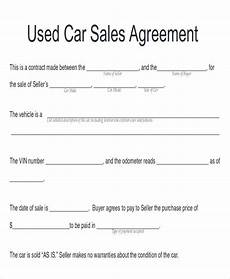 Used Vehicle Purchase Agreement Free 9 Sample Automobile Sales Contracts In Google Docs