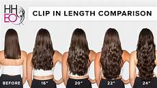 Length Hair Extensions Chart Clip In Hair Extensions Length Guide Hheo Youtube