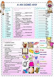a an some any worksheet free esl printable worksheets
