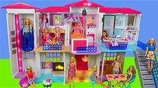 Barbie Doll House With Lights Barbie Dolls Hello Dreamhouse Dollhouse W Kitchen