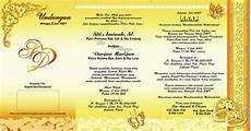 contoh undangan nikah emas contoh isi undangan