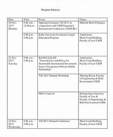 Programme Itinerary Template Free 38 Event Program Templates In Pdf Ms Word