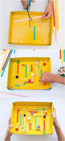 diy kids kid made diy recycled cardboard marble maze recycling