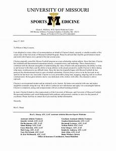 Athlete Letter Of Recommendation Letter Of Recommendation