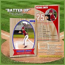Baseball Card Template Free Baseball Sports Trader Card Template For Photoshop By