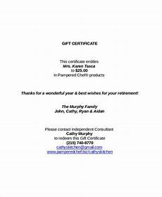 Gift Certificate Letter Template Gift Certificate Template Word 9 Free Word Documents