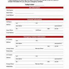 Employee Forms Templates Employment Information Form Template Charlotte Clergy