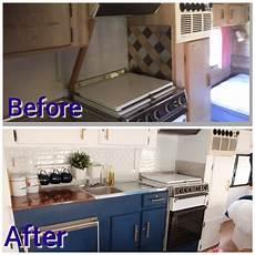 refurbished caravan before and after caravan cer poptop