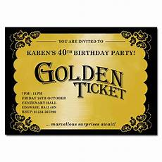 Golden Ticket Invitation Golden Ticket Invitation Party Invitation