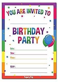 Birthday Invite Images Amazon Com 30 Birthday Invitations With Envelopes 30