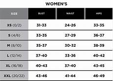 Bali Women S Size Chart Size Chart Greg Norman Collection