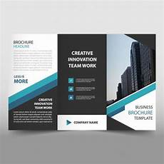 Tri Fold Flyer Blue Trifold Business Flyer Template Vector Free Download