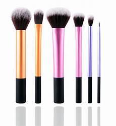 glowii 6pcs essential makeup brush set colour zone cosmetics