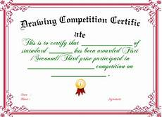Certificate For Competition Drawing Competition Certificate Certificate Created With