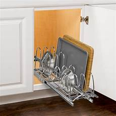 lynk roll out pan lid holder pull out kitchen cabinet