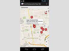 [Free][Maps & Local] Find Restaurants Near Me