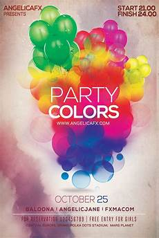 Flyer Color Party Colors Psd Flyer Poster Template Party Colors Psd