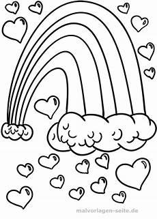 Valentinstag Malvorlagen Zum Ausdrucken Kostenlos Malvorlage Regenbogen Herzen Ausmalbilder Regenbogen