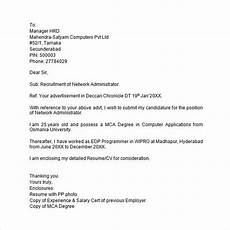 Cover Letter For Any Job Free 10 Application Letter Templates In Ms Word Pdf