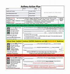Asthma Action Plan Chart Asthma Action Plan Template 13 Free Sample Example