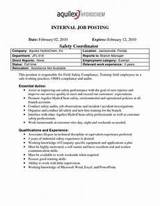 Internal Resume Template The Extraordinary Best Photos Of Internal Job Posting