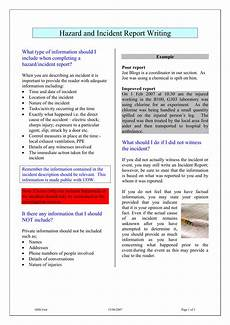 Odjfs Incident Report Hazard And Incident Report Writing Example 1