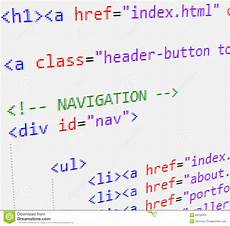 Html Code Css And Html Code Stock Illustration Illustration Of