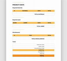 Bid On Construction Jobs Free Easy To Use Construction Bid Template Free Downloadable