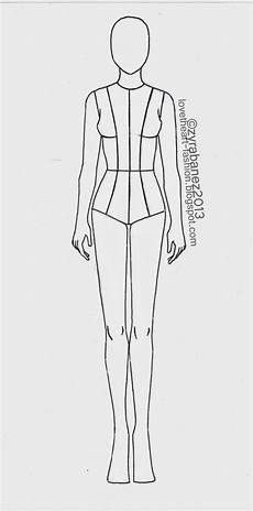 Body Templates For Designing Clothes Zyra Ba 241 Ez August 2013