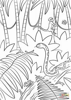 jungle coloring page free printable coloring pages