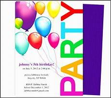 Free Party Templates For Word 4 How To Make Party Guest List In Ms Word