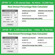 Annual Interest Rate Real Apr Mortgage Calculator Calculate Actual Home Loan