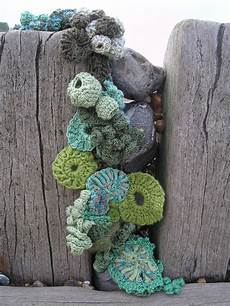 knit art hook and scumble crocheting with yarns which