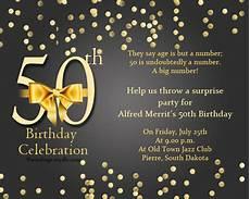 50th Birthday Invites Templates 50th Birthday Invitation Wording Samples Wordings And