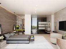 Modern Master Bedroom And Wood Home With Creative Fixtures