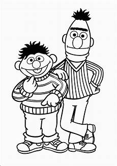ernie and bert template sesame coloring pages