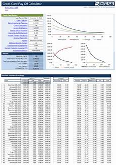 Pay Off Credit Cards Calculator Credit Card Pay Off Calculator Free For Excel