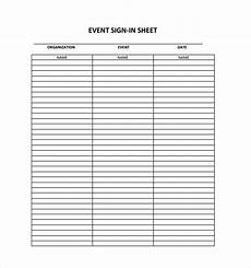 Signing Sheet Template 18 Sign In Sheet Templates Free Sample Example Format